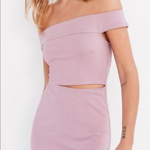 Lilac off the shoulder and cut out dress